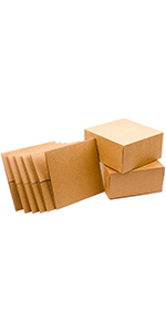 Kraft gift boxes with lids for Christmas, birthdays, bridesmaids gifts, wedding parties and holidays