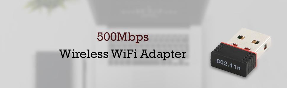 Mini 2.4Ghz, 500Mbps Wireless WiFi Adapter