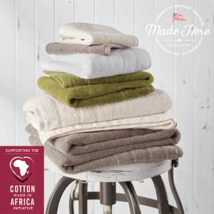 Made in the USA with 100/% BT04813MOSS Made Here by 1888 Mills Luxury Bath Towel