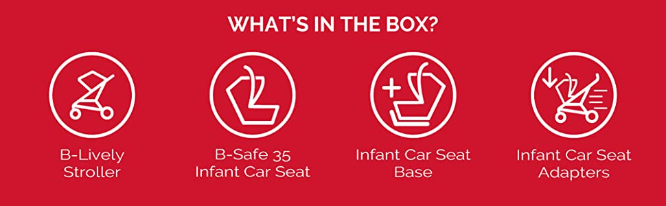 B-Lively & B-Safe 35 Travel System What's In The Box