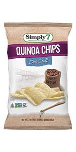 peanut free, treenut free, gluten free, quinoa chips