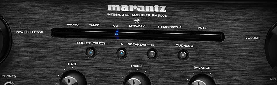 Marantz PM5005 - Entry-Level Integrated Amplifier with Phono MM EQ for  Vinyl Playback Audio with