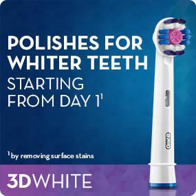Oral-B 3D White Electric Toothbrush Replacement Heads Powered by Braun