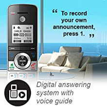 Answering system voice guide