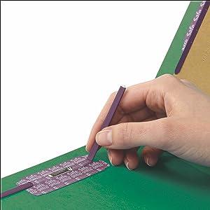 Smead Press Guard classification file folders letter size, safeSHIELD coated fastener technology