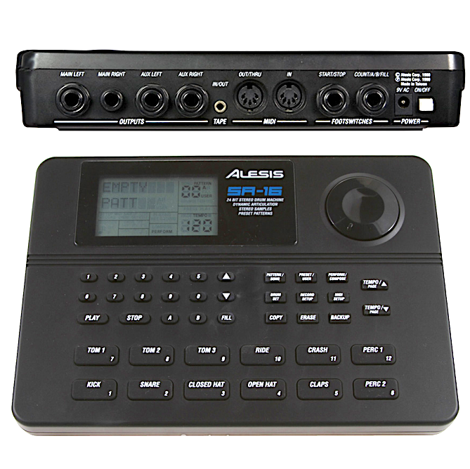 Image result for alesis sr16 front back