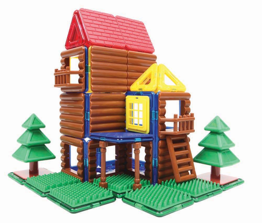 Building Toys From The 90s : Magformers log cabin building set multicolor