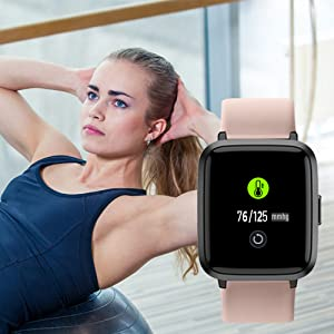 2  YAMAY Smart Watch 2020 Ver. Watches for Men Women Fitness Tracker Blood Pressure Monitor Blood Oxygen Meter Heart Rate Monitor IP68 Waterproof, Smartwatch Compatible with iPhone Samsung Android Phones 10e6013a 6bef 461c 9796 3c7464285888