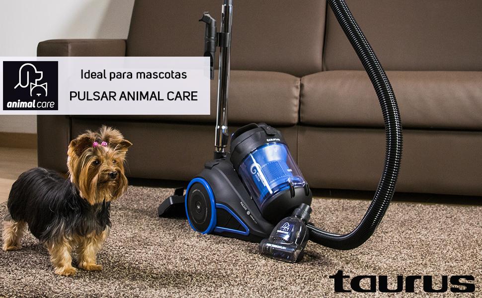 Taurus Pulsar Animal Care – Aspirador de Trineo sin Bolsa con ...