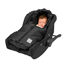 Clevamama - Saco Impermeable Universal Sillita Coche Bebé (Negro)