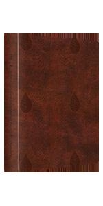 Single Column Journaling Bible, TruTone, Chestnut, Leaves Design