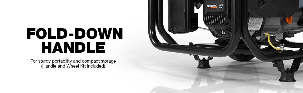 Generac, GP3600, Portable, Generator, Handle, Wheel Kit