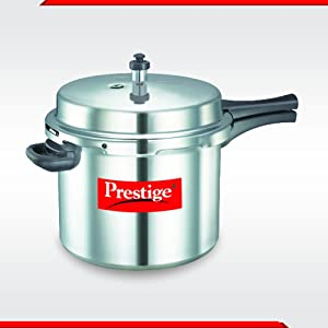 Prestige Aluminium Pressure Cooker, 10 Litres, Silver