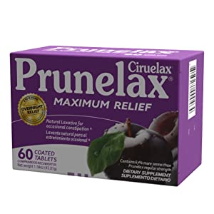 Maximum relief 60 tablets coated prune laxative natural