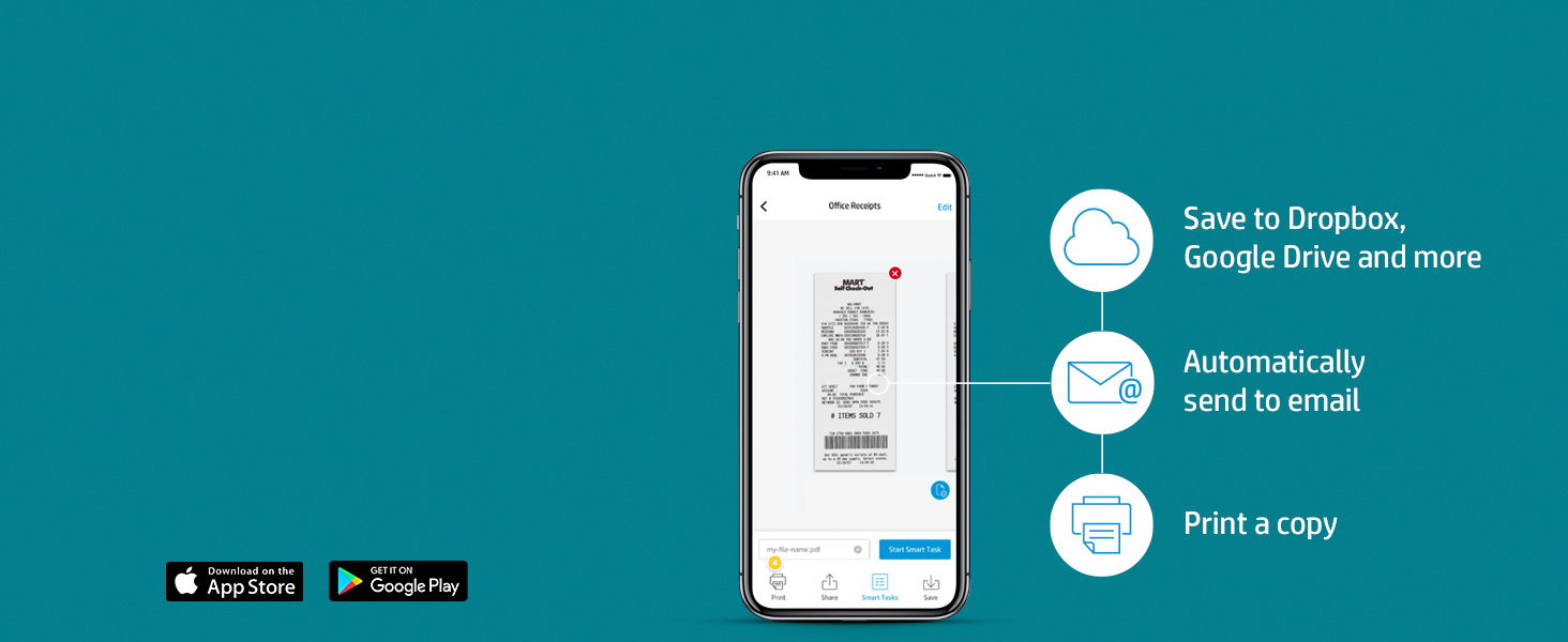 scan documents hp smart tasks save email print copy