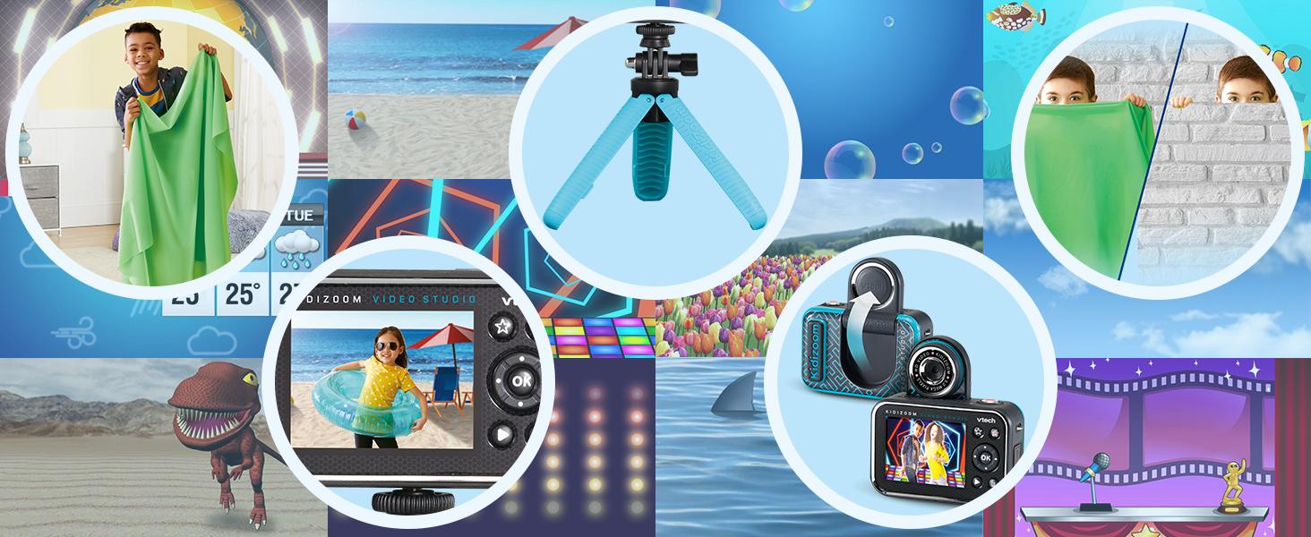 kidizoom vidéo studio, appareil photo, caméra, trucages vidéo, effets spéciaux, caméra enfant