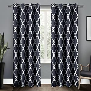 Amazon Exclusive Home Curtains Ironwork Sateen Woven Blackout