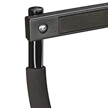 No Drilling Bicep Workout Pull-Up or Chin-Up Bar Black HxWxD: 42 x 92.5 x 29 cm Padded Handles Steel Relaxdays Steel Bar