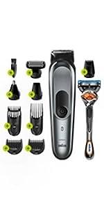 Braun MGK7020 10 en 1, Máquina recortadora barba y cortapelos todo en uno con afeitadora cuerpo, nariz y orejas, afeitadora mini, detalles, color negro/plata: Amazon.es: Salud y cuidado personal
