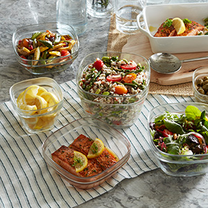 Store and serve in the same dish. Make summer meals easy!