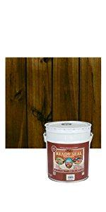 Ready Seal 530 5 Gallon Pail Mahogany Exterior Wood Stain And Sealer Home Improvement