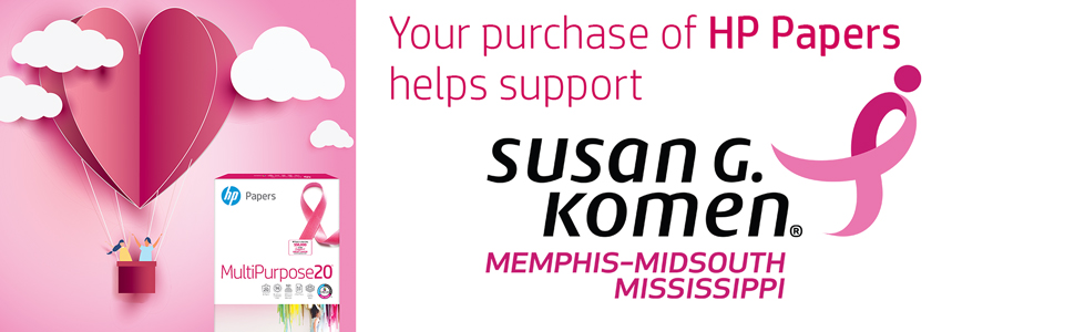 MultiPurpose20 Pink Ribbon paper purchase helps support Susan G. Komen Memphis-Midsouth Mississippi