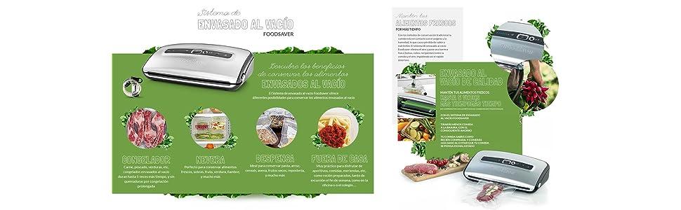 Foodsaver FFS016X Envasadoras al vacío con cutter incorporado ...