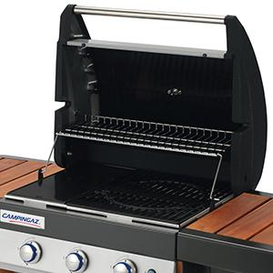 Campingaz 3 Series.Campingaz Gas Bbq 3 Series Woody Lx 3 Burner Gas Barbecue Grill 9 6 Kw Power Instaclean Easy Cleaning System Cast Iron Grid And Griddle 2 Side