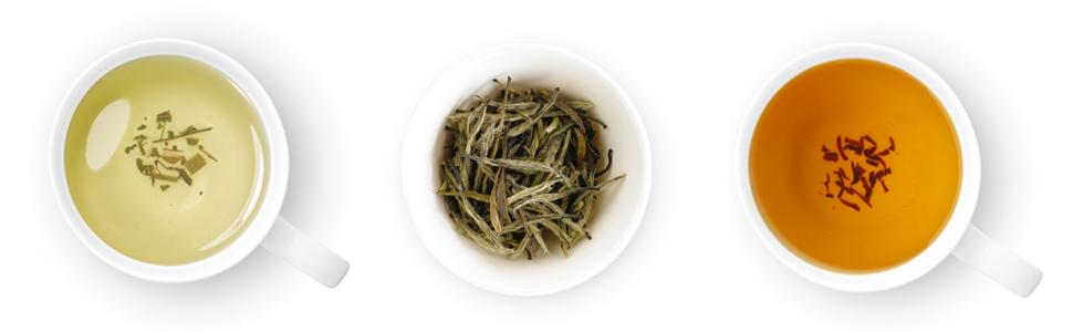 variety tea leaves