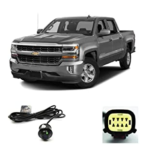 Brandmotion 9002-7453 Dual Mount License Plate Backup Camera w//Factory Tailgate Harness for 2017-2018 Ram Trucks