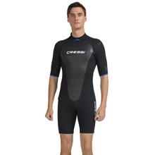Cressi Altum Man 3mm Shorty Wetsuit Traje Monoshort sin Capucha en Neopreno Mono/Biforrado de 3 mm, Hombre