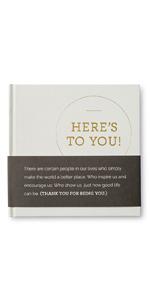 appreciation gift book beige gold foil cover gender neutral