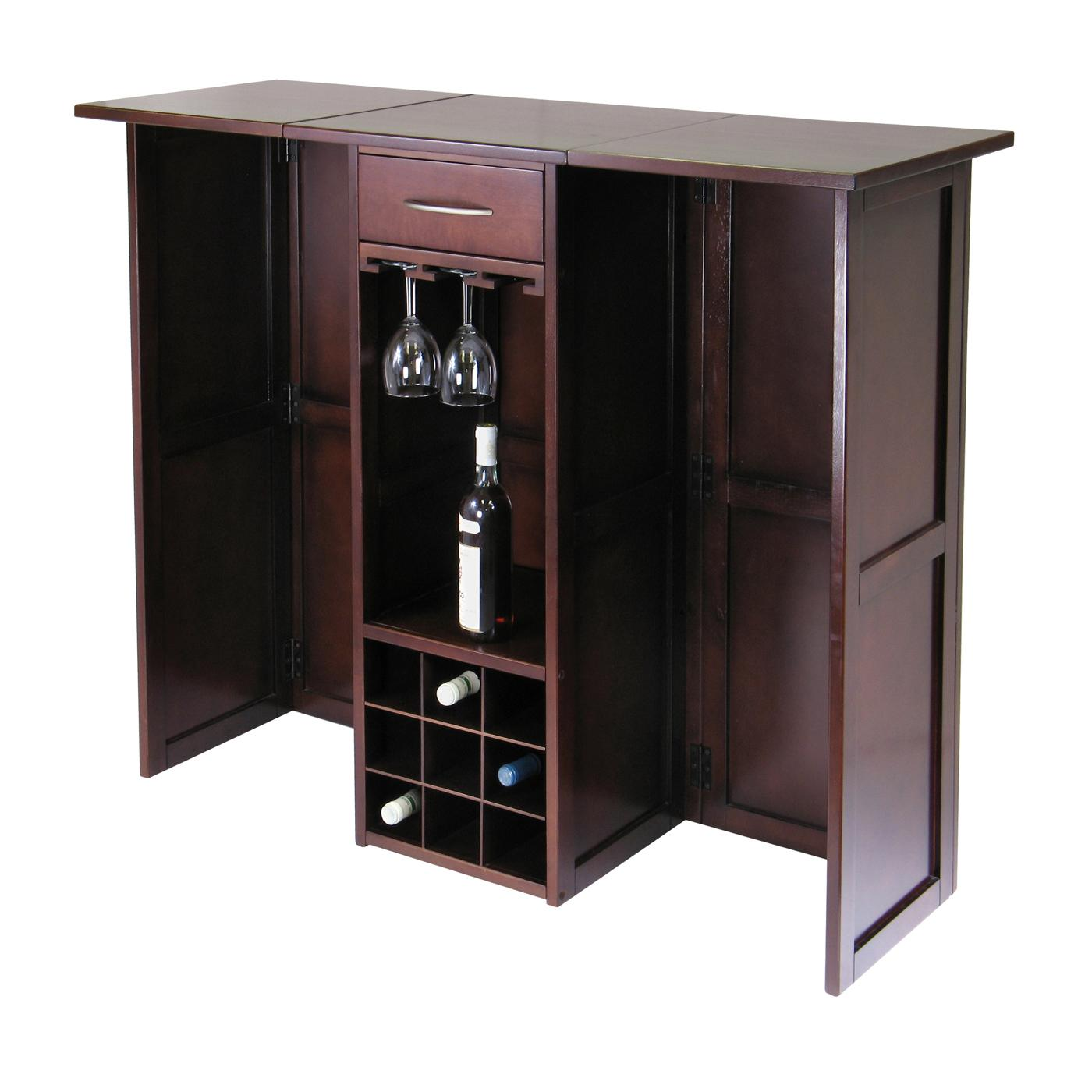 amazon ca wine racks home kitchen tabletop wine racks winsome wood newport expandable wine bar