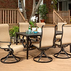 Amazon Com Brigantine 7 Piece Rust Free Aluminum Outdoor