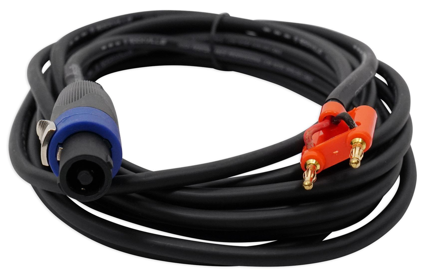 Amazon.com: Rockville RSB16 20 Foot Speakon to Banana Speaker Cable ...