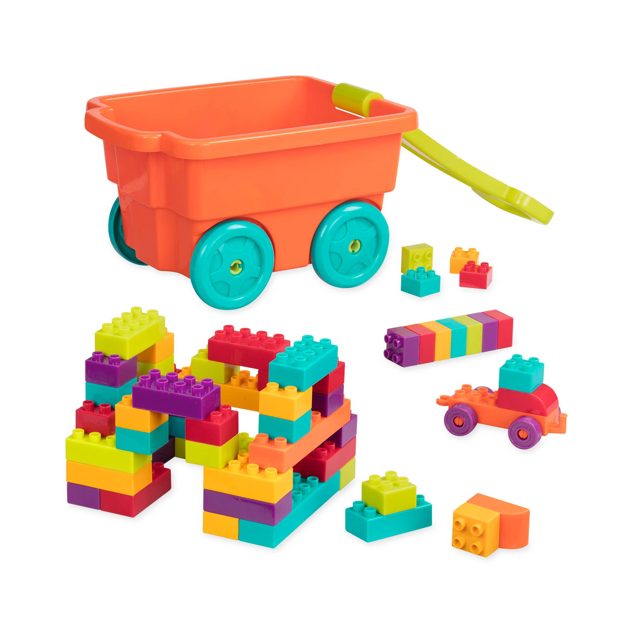 Amazon Battat Locbloc Wagon Building Toy Blocks for Toddlers