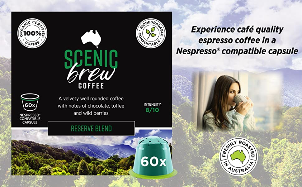 Scenic Brew Reserve Nespresso Capsules 60 pack