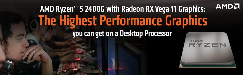 Amazon Com Amd Ryzen 5 2400g Processor With Radeon Rx Vega 11 Graphics Yd2400c5fbbox Computers Accessories