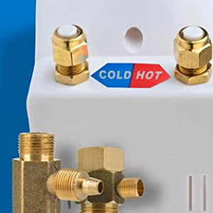 Solid Brass T-valve and High Quality All Metal Connections