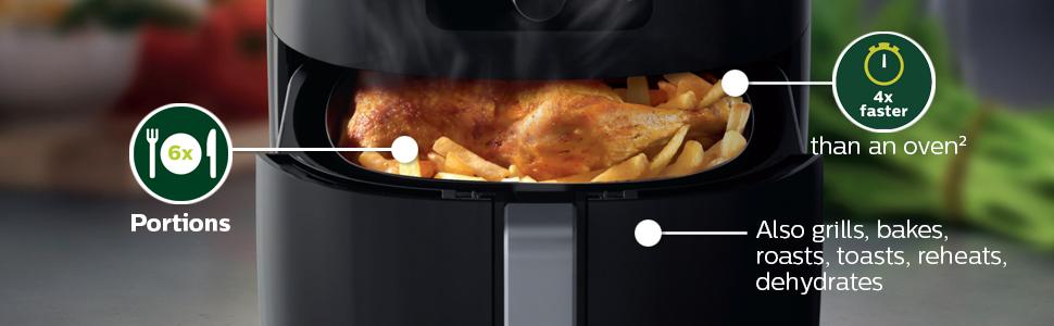 Philips kitchen airfryer also grills, bakes, roasts, toasts, reheats