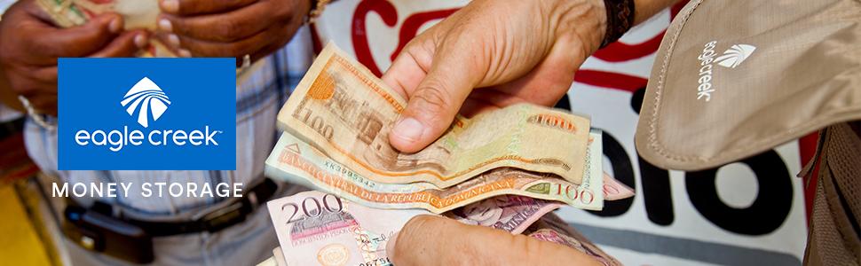 eagle creek wallets, rfid wallets, bifold wallets, rfid travel wallets, travel wallets