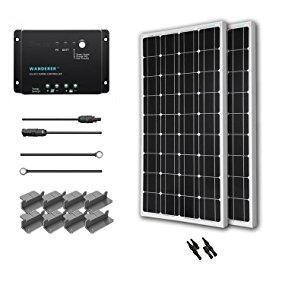 solar panel,solar panel kit,100w solar panel,charge controller