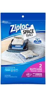 Ziploc Space Bag, Travel Bag, 2 Count