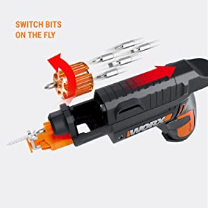 WORX WX255L SD Semi-Automatic Power Screw Driver with Screw Holder 16