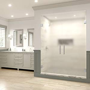 shower door, frameless shower door