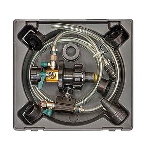 vacuum coolant filler; vacuum fill coolant; coolant filler tool; vacuum fill coolant tool;
