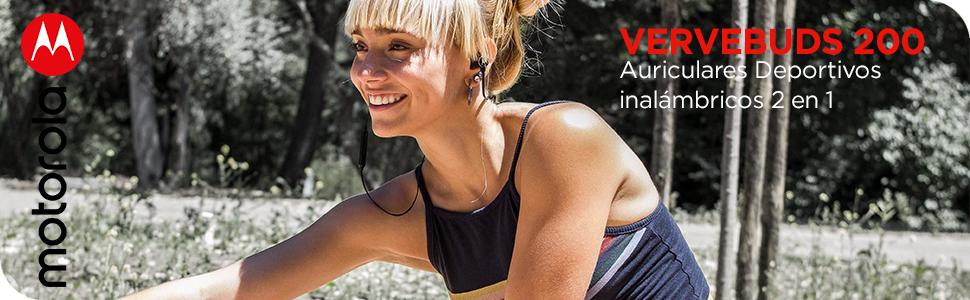 Motorola VerveBuds 200 - Auriculares Deportivos inalámbricos 2 en ...