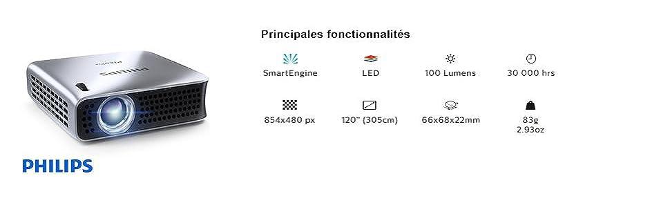 Caractéristiques techniques PicoPix PPX4010