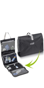 Toiletry Bag Travel Accessories Shampoo Cosmetics Personal Items with Waterproof Folding Design
