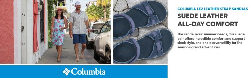 Columbia Women's LE2 Leather Sandals